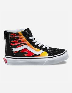Vans Ghost Rider Fire Old Skool Skateboard Shoes Black  1bf33ca48f
