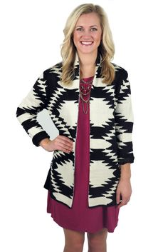 baby it's cold outside aztec cardigan - black #aztec #black #cardigan #chunky #color-block #cream #fall #holiday #jacket #knits #large #layers #medium #new #open-front #overlay #pattern #popular #print #retro #shirt #small #sweater #top #tribal #warm #white #winter