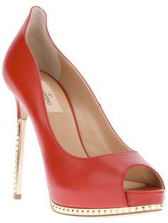 7661b8daa Valentino Sapato Vermelho. - Biondini - farfetch.com.br Metallic Heels
