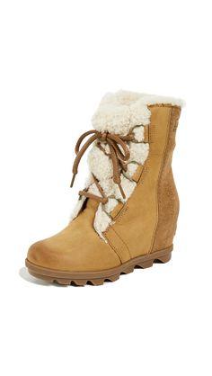 1535eede336c Joan Of Arctic Wedge II Lux Boots by Sorel in Camel Brown