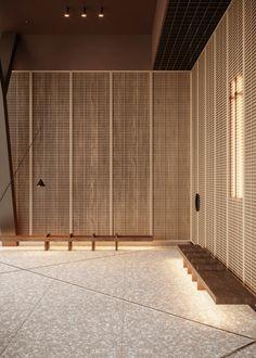 Business Center Hall Concept on Behance Lobby Interior, Cafe Interior, Office Interior Design, Office Interiors, Interior Design Living Room, Interior Architecture, Hotel Interiors, Chinese Interior, Japanese Interior