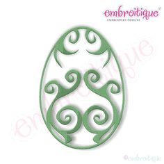 Fancy Easter Egg 19 Filled Embroidery Design by Embroitique