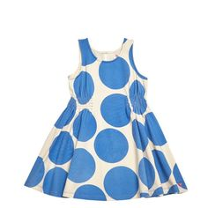 Pink Chicken Avery Dress Blue Polka Dot