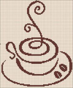 Free coffee cross stitch pattern #stitching