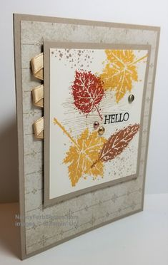 Fall Cards, Holiday Cards, Leaf Cards, Christian Cards, Stamping Up Cards, Thanksgiving Cards, Card Tutorials, Greeting Cards Handmade, Fall Halloween