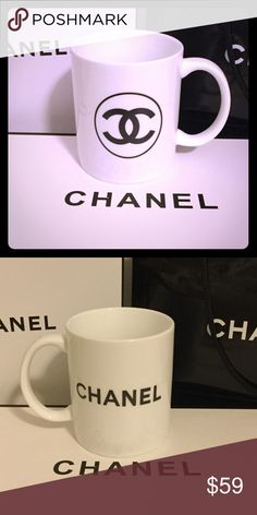 Chanel Ceramic Coffee Mug Black or White Chanel gift item. Comes in white or black. Double sided logo cup. No gift box or bag. Beautiful cup ☕️ to cozy on the couch with. Just add a Chanel blanket and you'll be set! Size about 3.75 inches tall. CHANEL Makeup Eyeshadow