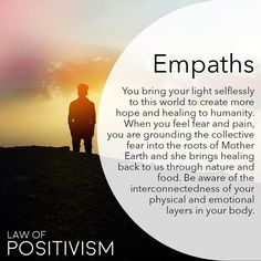 """1,800 Likes, 62 Comments - Law Of Positivism (@law_of_positivism) on Instagram: """"If you are a soul, highly sensitive and empathic to other people's emotional and mental states,…"""""""