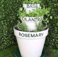 Here's The Easiest Way To Grow Your Own Herbs | 1000 Balcony Planters, Herb Planters, Herb Pots, Planter Pots, Flower Planters, Indoor Garden, Outdoor Gardens, Patio, Backyard
