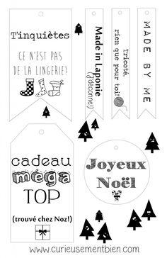 Etiquettes Noël 2016