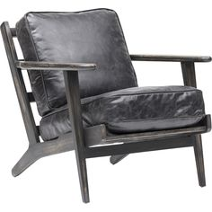 Re-do my similar chair with new paint and upholstery.    Brooks Leather Lounge Chair, Ebony