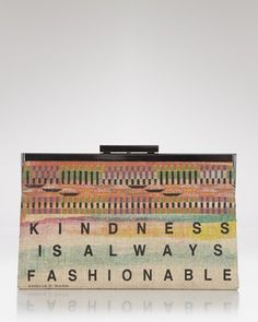 Beautiful Rachel Roy Ghana charity clutch