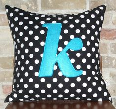 K monogrammed pillow case 20x20 :any letter/colour by HAWThome