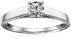 14k Gold Round Cathedral Solitaire Diamond Ring ( cttw, H-I Color, I2-I3 Clarity), Size 7Cut refers to the proportions, finish, symmetry, and polish of the diamond. These factors determine the fire and brilliance of a diamond. Well cut diamonds sell at a premium and poorly cut diamonds sell at discounted prices. Since the quality of the cut is directly responsible for the stones beauty, the precision with which the facets are arranged is of prime importance. They determine the amount of…