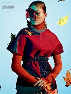 visual optimism; fashion editorials, shows, campaigns & more!: legends of the fall: sophie touchet by jean-claude lussier for elle canada october 2014