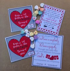 My tags for Visiting Teaching this month go along with a Valentine's theme. I found 2 different quo. Visiting Teaching Message, Visiting Teaching Handouts, Teaching Ideas, Valentine Theme, Valentines, Ministering Lds, Grandma Crafts, Gifts For Pastors, Relief Society Activities