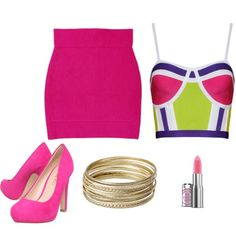 Pink! by candelita-del-pino on Polyvore featuring moda, Miss KG and Steve Madden