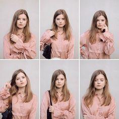 Portrait idea. Pink blouse Portrait Ideas, Ruffle Blouse, Pink, Tops, Women, Fashion, Moda, Rose, Women's