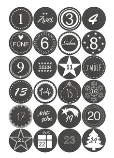 ☆ Advent Calendar Numbers - to check