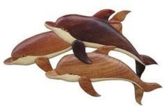 Buns Of Maui - Hawaiian Wood Wall Hanging Three Dolphins Medium, $29.49 (http://www.bunsofmaui.net/hawaiian-wood-wall-hanging-three-dolphins-medium/)