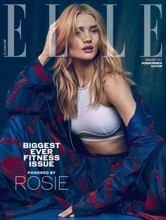 Supermodel Rosie Huntington Whiteley stars in the cover story of British Elle Magazine's January 2017 edition lensed by fashion photographer Jem Mitchell. Fashion Magazine Cover, Fashion Cover, Uk Fashion, Trendy Fashion, Fashion Brands, Fashion Design, Magazine Covers, Fashion Blogs, Fashion Beauty