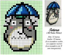 Totoro punto de cruz