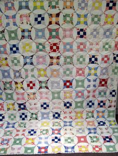 Improved nine patch quilt made in 1934