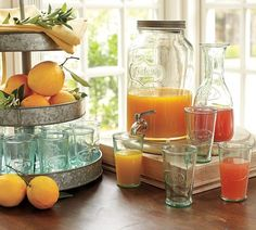 Nice way to serve some cool refreshments. Vintage drinks dispenser from Pottery Barn