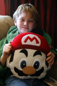 Mario pillow.  My grandson would love this.