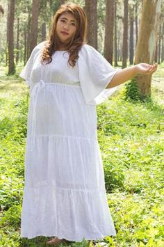 Summer gauze dresses plus sizes