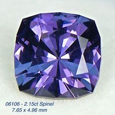 06106 - 2.15ct blue/violet Spinel - Ceylon 7.65 x 4.96 mm, clean,custom cut, $385 shipped