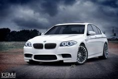 BMW M5 - one of the bmw's I would want. In charcoal grey