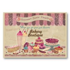 Bakery Boutique Cakes  Patisserie Business Card