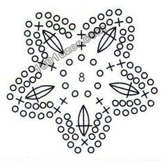 Star crochet diagram