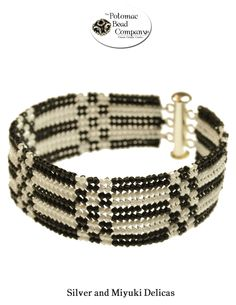Flat herringbone bracelet from The Potomac Beads  ~ Seed Bead Tutorials