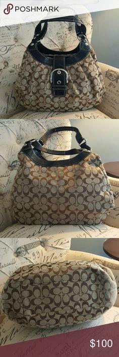 Large Brown Coach Shoulder Bag Large Brown Coach Shoulder Bag. Pristine  condition 0bf1fcd586bac