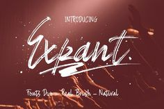 INTRODUCING Expant (Fonts Duo + Swash) it is a very original handiwork looks like real handwriting, by generating regular curved brush. is the font style