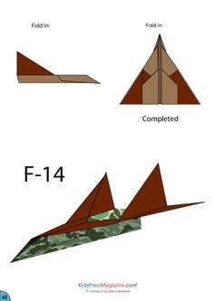 Paper Airplane Instructions – F-14 #advanced #paper #airplane #free #template
