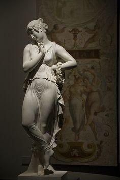 'Ballerina con le dita sul mento' by Italian artist Antonio Canova (1757-1822). Photographed in 2009 by aurelio candido. via the photographer on flickr