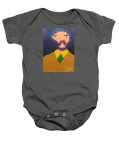 Patrick Francis Charcoal Designer Baby Onesie featuring the painting Portrait Of Eugene Boch 2015 - After Vincent Van Gogh by Patrick Francis