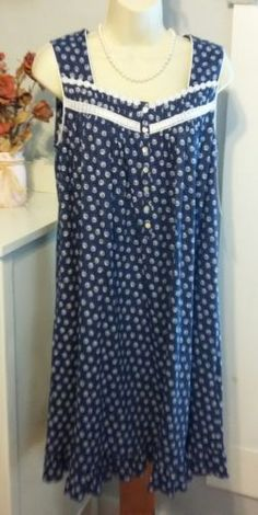 NWT S Small Eileen West Nightgown 100% Cotton Knit NEW Gown Long ... 94064e03c