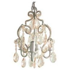 Tadpoles 3 Bulb Mini Chandelier - Clear/White : Target