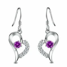 Rhodium Plated 925 Sterling Silver Amethyst Diamond Accent Heart Earrings-SE3257 Color-jewels, http://www.amazon.com/dp/B005F2DZJQ/ref=cm_sw_r_pi_dp_IblHqb1XRRVE6