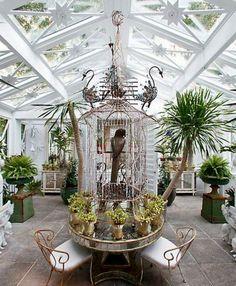 wintergarten design ideen - holzhirsch, naturmotive | conservatory, Terrassen deko