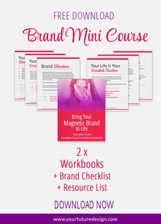 Attract your clients by creating a consistent brand experience and Brand Identity that'll Get Your Business Noticed. You will work out what is a personal brand and how to brand your social media profiles to grow your social media following. Click through to download your free mini course >>