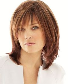 Latest And Popular Medium Hairstyles With Bangs - Medium-Hairstyles-with-Bangs                                                                                                                                                                                 More