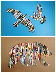 Magazine Strip Silhouette Wall art | DIY Cozy Home