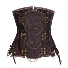 Steampunk Underbust Corset With Front Metal Chain Buckle Plus Size Steampunk Vest, Steampunk Costume, Steampunk Necklace, Steampunk Clothing, Steampunk Fashion, Steampunk Outfits, Steampunk Halloween, Gothic Clothing, Historical Clothing