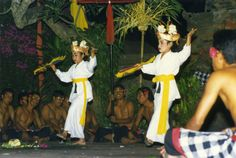 We went to a show on Bali to see the Kecak Dance, also called the Monkey Dance.  At the end of the show two young girls came out and danced the Legong Dance.  This is usually the first dance taught to beginners.