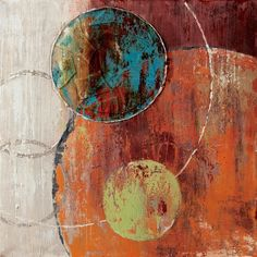 Universe, modern abstract painting circles decorative artist canvas wall art free shipping for home office