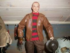 "Sideshow Freddy vs Jason 12"" Jason and Freddy figures"